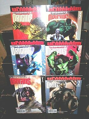 Marvel Comics ULTIMATE ORIGINS #1 2 3 4 5 + #4 Variant FULL SET Bendis HULK Cap