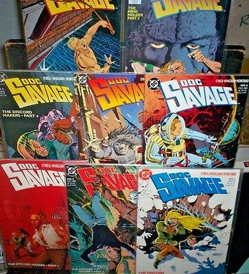 DOC SAVAGE #1 2 3 4 5 6 7 8 DC COMICS Denny O'Neil PULP HERO VF NM Free Ship!