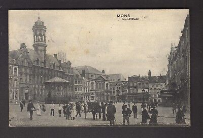 MONS - Grand'Place (+ animation)  1913