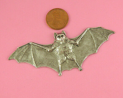 Unique Vintage Design Silver Plated Brass Large Bat - 1 Pc