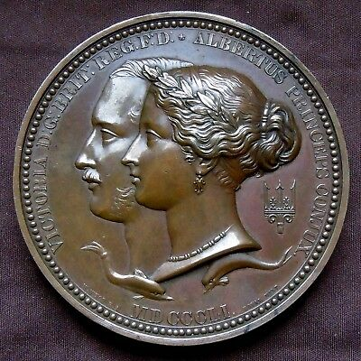 UK HP-A015, 1851 THE GREAT EXHIBITION OFFICIAL PRIZE MEDAL BRONZE 77mm 8 Oz MS+