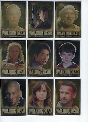 The Walking Dead Season 2 Gold Foil Trading Card Complete Set Of 9