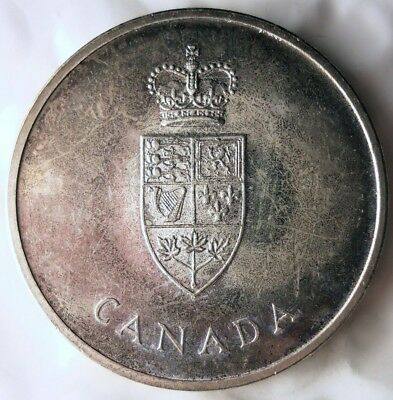 1967 CANADA DOLLAR - COMMEMORATIVE - Excellent Silver Crown Coin - Lot #A21