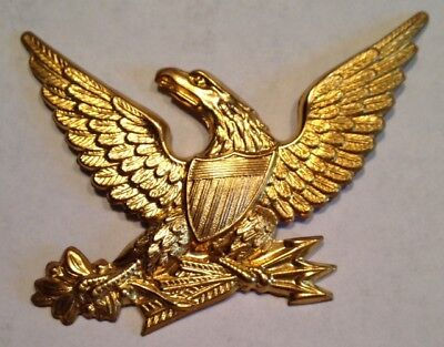 P-Civil War, 1 - U.S.M.C. Eagle M-1830 Brass Hat Plate, Unused Repros, No Wires