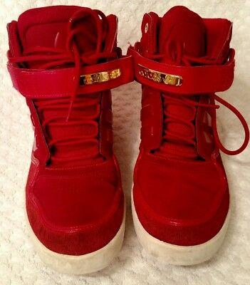 Men's ADIDAS red high tops tennis shoes size 9.5 Retro Nice