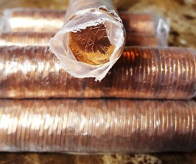 Canada 1990 *Key Date* Original Mint Wrapped Roll of 50 Pennies!!
