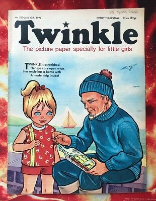 Twinkle  Comic No. 230. 17 June 1972. Dress Twinkle Page. Puzzles Not Done. Vfn