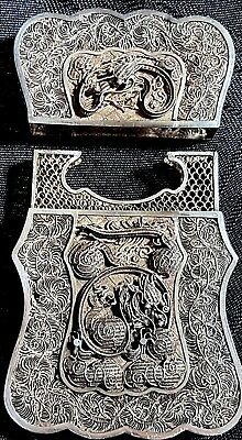 Beautiful 19th Century Antique Chinese Export Silver Filigree Business Card Case