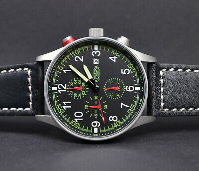 ASTROAVIA AIR CRAFT No.1L - 6 ZEIGER PROFI CHRONOGRAPH FLIEGERUHR NEU