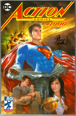 SIGNED Action Comics #1000 DC Comics SUPERMAN Variant Cover Art by Dave Dorman