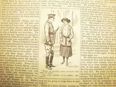 SUPERB ANTIQUE ORIGINAL PERIOD EARLY 1900`s POLITICAL SUFFRAGETTE CARTOON # 12