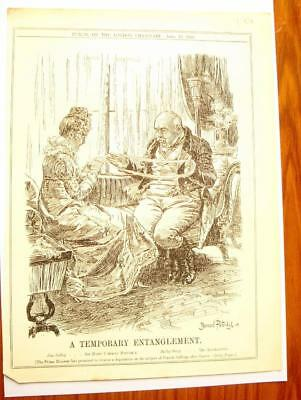 SUPERB ANTIQUE ORIGINAL PERIOD EARLY 1900`s POLITICAL SUFFRAGETTE CARTOON #7
