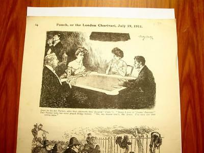 SUPERB ANTIQUE ORIGINAL PERIOD EARLY 1900`s POLITICAL SUFFRAGETTE CARTOON #5