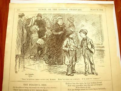 SUPERB ANTIQUE ORIGINAL PERIOD EARLY 1900`s POLITICAL SUFFRAGETTE CARTOON #1