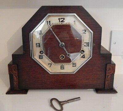 Lovely Westminster Chiming Clock - Octagonal Face - Good Condition