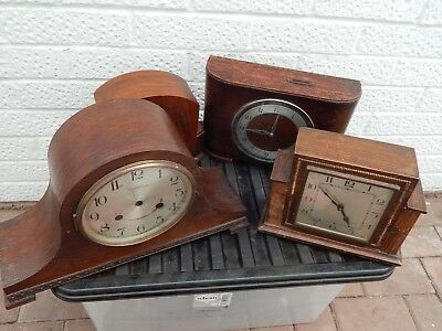 Job Lot of Clocks Cases some with Movements - Spares / Repairs