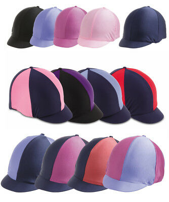 Shires Jockey Skull Hat/helmet Stretch Lycra Peaked Cap Silk Cover/silk