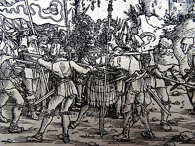 1532 Master of Petrach - Hans Weiditz 2 woodcuts SPOILS OF WAR / REVENGE