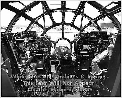 Ww2 Picture Photo Us Air Force B 17 Bomber Cockpit Ref 1914