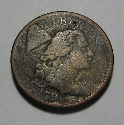 1794 Flowing Hair Large Cent Penny - S-46 NICE Condition - 46SU