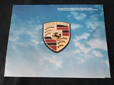 1980 Porsche 911SC Weissach Brochure Limited Edition 911 SC Coupe Sales Catalog