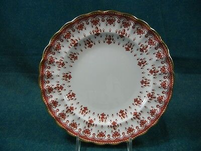 Spode Fleur de Lys Red Y7481 Bone China Bread and Butter Plate(s)
