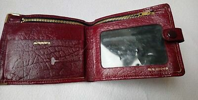Beautiful vintage 1950s 1960s real leather red mens wallet