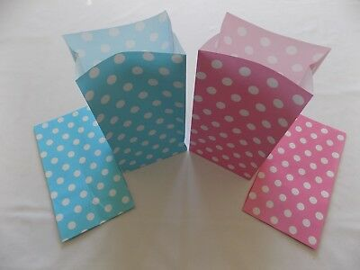 Pink/Blue PAPER Party bags Baby Shower Birthday Gift Treat