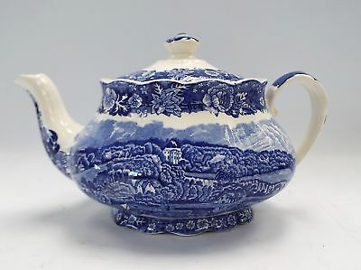 """PALISSY POTTERY Teapot - Thames River Scenes """"Hedsor"""" - B73"""