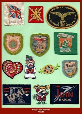 Collection x26 interesting Cloth Badges and Patches on various subjects