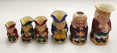 Collection of 6 Assorted TOBY Jugs  - E19