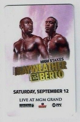 MAYWEATHER v BERTO Boxing Fight - MGM GRAND Las Vegas Room KEY Card Casino Hotel