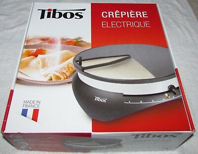 """Tibos 13 3/4"""" Round Electric Single Crepe Maker - 1300W, 110V NEW"""