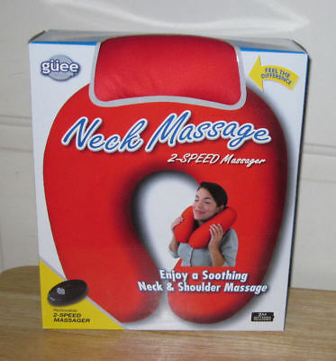 Neck Massage Pillow Battery Operated 2-Speed Massager - Red