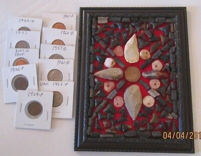 Super Display, Neolithic Arrowheads & Fossils & Coins