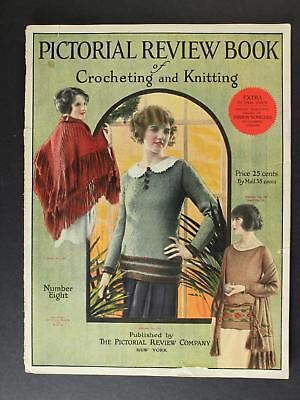 1923 PICTORIAL REVIEW BOOK of CROCHETING & KNITTING CATALOG/MAGAZINE~36 Pages