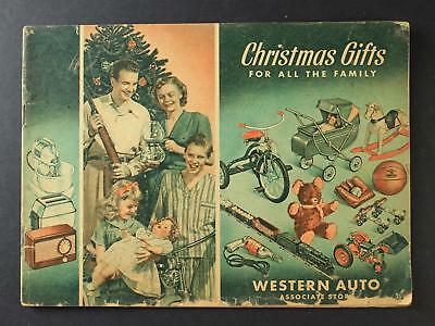 Circa1950s WESTERN AUTO STORE CHRISTMAS TOY CATALOG~32 Pages~