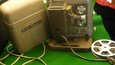 Bell & Howell 8 mm movie projector model 254R portable heavy metal