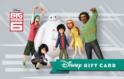 Disney Gift Card - Big Hero 6 with Baymax and Hiro - NO VALUE Collectable