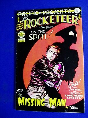 Pacific Presents #2 The Rocketeer. Dave Stevens, Betty Page, Ditko. 1st.