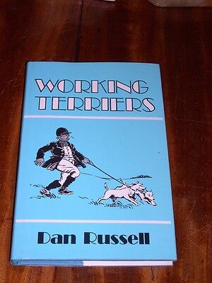 """""""working Terriers"""" By Dan Russell 1980 Rare Dog Book Badgers Otters Sealyham"""