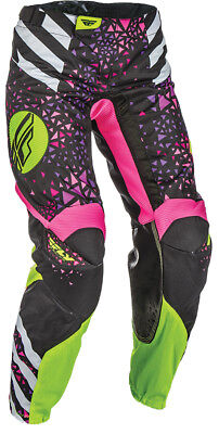 Fly Racing Womens Kinetic Race MX Pants US 0/2 Neon Pink Hi-Vis