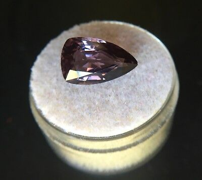 NATURAL 5.57ct Pink Purple Spinel UNTREATED Pear Teardrop Cut CERTIFIED Gem