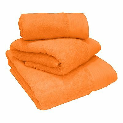 Luxury 100% Egyptian Cotton Thick Heavyweight Combed Tangerine Towels and Mats