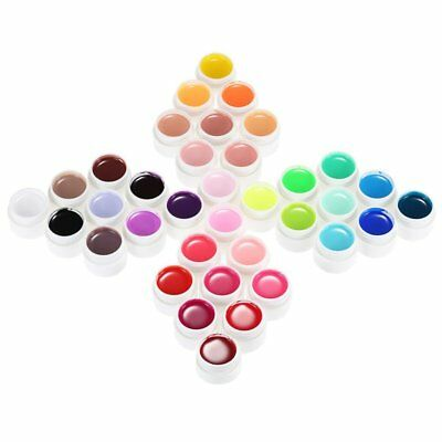 Beautiful 36 Pure Colors 5g Nail Art Glitter UV Gel Acrylic Builder Glue Solid