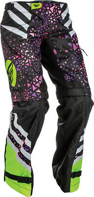 Fly Racing Womens Kinetic Over-the-Boot MX Pants US 0/2 Neon Pink Hi-Vis