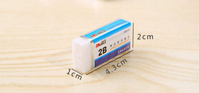 1 PCS Soft Rubber 2B Pencil Eraser For Writing School Nursery Stationery Great