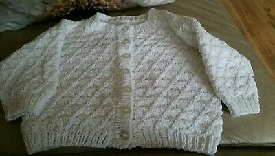 Unisex baby  hand knitted cardigan