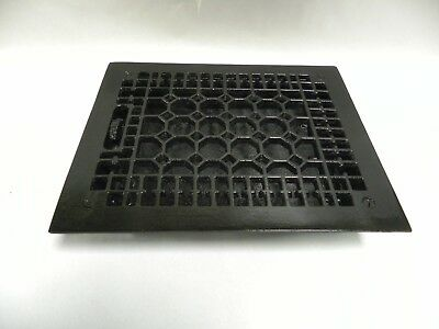 Vintage Antique Decorative Cast Iron Floor Heat Grate Register Cover (A20)