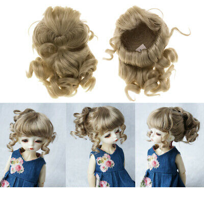 1/6 BJD Doll Curly Ponytail Wig Hairpiece for  DOD SD Hair Making Repair